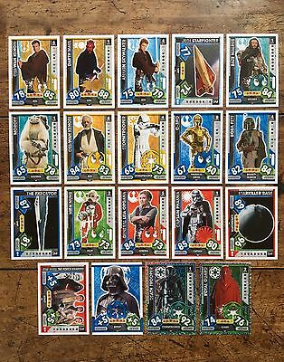 Star Wars - Force Attax 2017 (TOPPS collector cards) 19 x Cards Mixed Lot #17.
