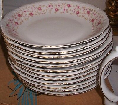 Vintage Mitterteich LADY CLAIRE China GERMANY Bavaria Set of 12 coupe soup bowls