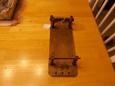 1800's All Wooden Lace Maker Or For Making Tating Very Unusual Piece
