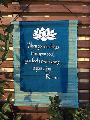 Balinese - Affirmation Flag- DO THINGS FROM YOUR SOUL- Bali