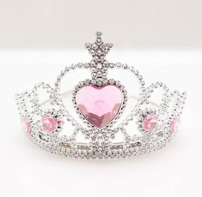 ONLY $1 NWT Super Cute Novelty Princess Tiara Crown With Light Pink Heart Stones