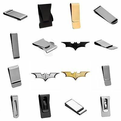 16 Styles Stainless Steel Money Clips Clamp Pocket Holder Credit Card Dollar NEW