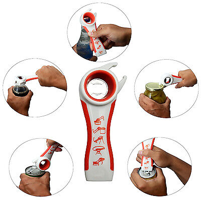Hottest Kitchen Multi-Tools 5 in 1 Opener Bottle Soda Soup Can Jelly Jar Opener
