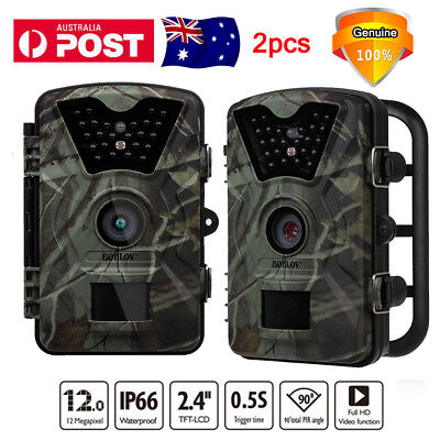 2ps Hunting Trail Camera Farm Security Cam Waterproof Night Vision No Spy Hidden