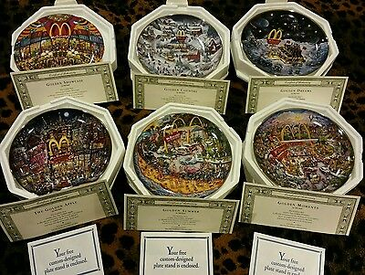 McDonalds The Franklin Mint- Set of 6 Collectors Plates- Original Package