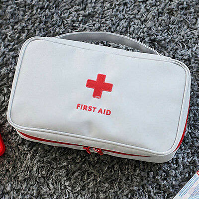 Travel First Aid Kit Bag Home Emergency Medical Survival Rescue Box FR