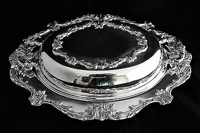 Christopher Wren by WALLACE SILVER PLATE DISH 588 covered serving vegetable bowl