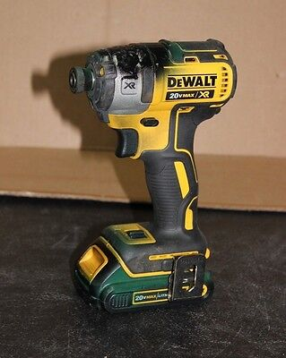 "Dewalt DCF887 1/4"" (6mm) 20 Volt Cordless Impact Driver & Battery (RE)"