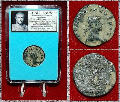 Ancient Roman Empire Coin Of GALLIENUS PAX Holding Olive Branch And Sceptre