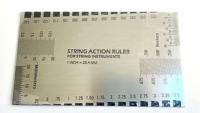 String Action Ruler Steel for Guitar Bass String Instrument Nut Saddle NEW