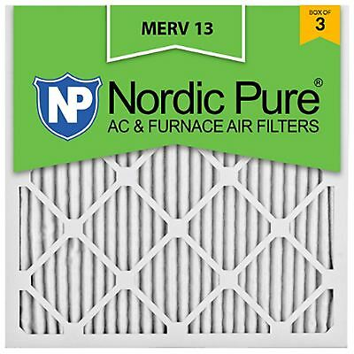 Furnace Filter 20x20x1 Merv 13 Home AC Air HVAC Allergy Dust 11 12 Nordic Pure