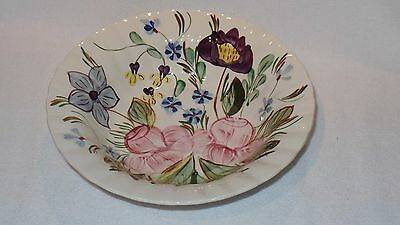 Blue Ridge Southern Potteries Rose Hill Round Vegetable Serving Bowl Numbered