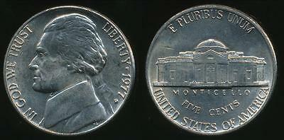 United States, 1977-D 5 Cents, Jefferson Nickel - almost Uncirculated