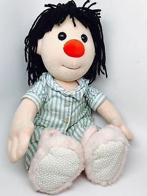 """Big Comfy Couch RARE Molly Doll 16"""" Flannel Pajamas Bunny Slippers Bedtime 1997"""
