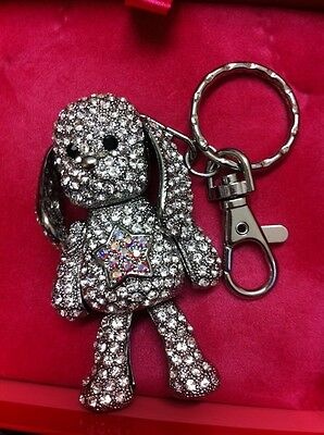 Butler & Wilson Crystal Dog With Star Keyring New Boxed
