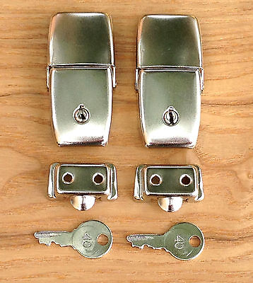 Pair of Craven Pannier Type Topbox Lock Top Box Locks - Vintage Luggage