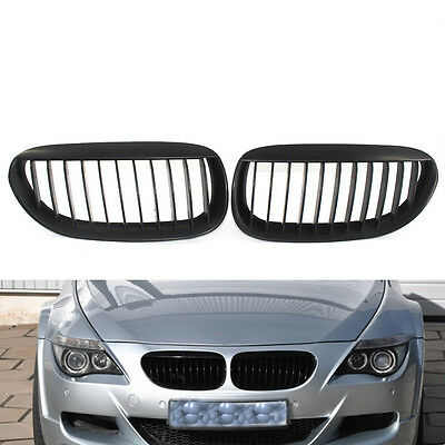 Matte Black Front Grille for BMW E63 E64 LCI M6 630 645 650 Convertible