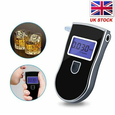 UK Portable Accurate Home Breath Alcohol Tester Testing Device Breathalyzer Test