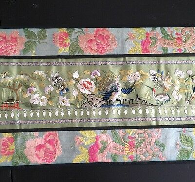 Antique Chinese Silk Embroidered Fine Embroidery High Quality Qing dynasty