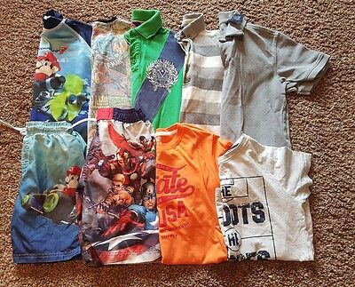 Job Lot of Boys Summer Clothes 7-8 Years