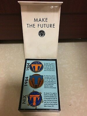 Disney Store Tomorrowland Limited Edition Pin 3 Pins Set LE 200