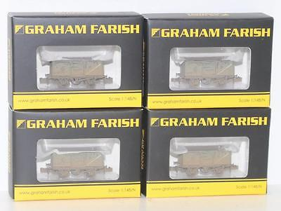 4 Grahah Farish N 1:148 BR 16T Steel Mineral wagon Weathered 377-227D FNQHobbys