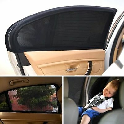 2Pcs Car SUV Side Rear Window Sun Visor Shade Mesh Cover UV Protector Shield AU