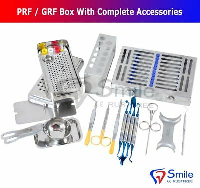 Complete PRF/GRF Box Dental Implant Membrane Surgery Bone Graft Instruments Kit