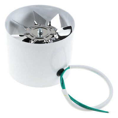 Metal 4'' Inline Ducting Fan Booster Exhaust Blower Air Cooling Filter Vent Fan