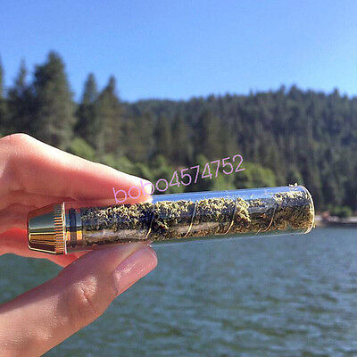 Newly Twisty Glass Blunt Obsolete with Cleaning Brush Replacement Glass Tube
