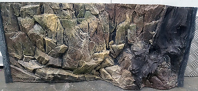 Aquarium Fish Tank Root Rock Background With Vent Can Fit Fish Tank 80x40cm