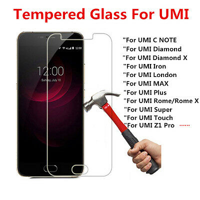 9H Premium Clear Tempered Glass Screen Protector Film Cover For UMI Phones Lot