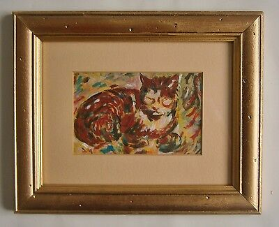 """A Painting Of  """"a Cat"""" -  Signed"""