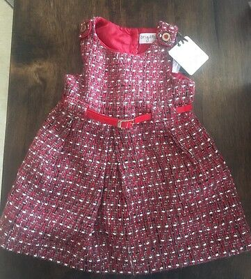 ORIGAMI Baby Girls Red Dress Size 1  BRAND NEW