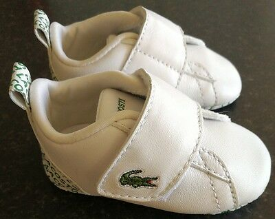 NEW, LACOSTE, baby, boy, trainer, infant size 2, shoes