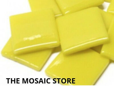 Yellow Opal Gloss Glass Tiles 2.5cm - Mosaic Tiles Supplies Art Craft