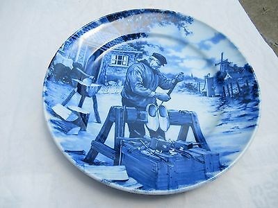 Vintage Delft Blue & White Handpainted Cabinet Wall Plate-made in Holland
