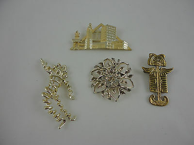 Vintage Signed AJC, Tipcol gold tone Jewelry