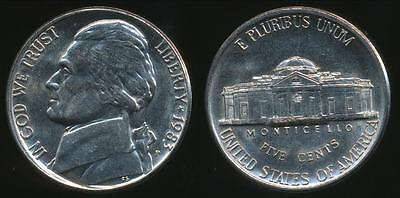 United States, 1983-P 5 Cents, Jefferson Nickel - Uncirculated