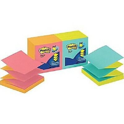 Post it Pop up Notes 3x3 Cape Town Collection 12 Pads/Pack