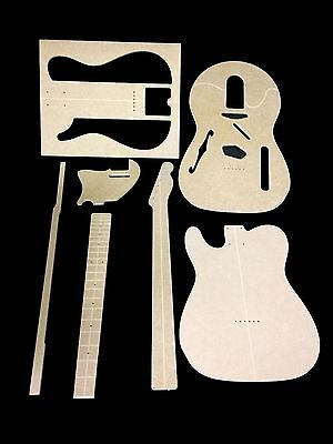 Guitar Template Set Telecaster Thinline cnc made 100% accurate templates .