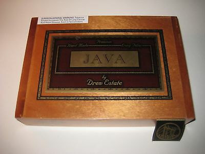 Super JAVA BY DREW ESTATE Wooden Cigar Box