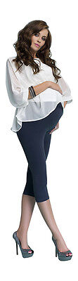 New Maternity Leggings Cropped 3/4 Length Cotton Pants Capri Sizes UK 8 - 16