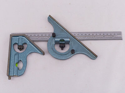 "Combination Square & Protractor  w/ 12"" / 300mm Rule    *** American Made ***"