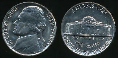 United States, 1983-D 5 Cents, Jefferson Nickel - Uncirculated