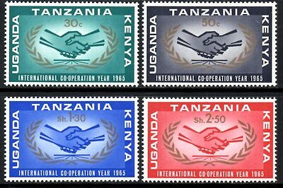 (Ref-11107) East Africa K.U.T. 1965 Int.Co-operation Year SG.13/16 Mint Hinged