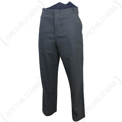 WW2 British RAF Service Dress Trousers - Repro Pilot Airforce Uniform Pants Blue