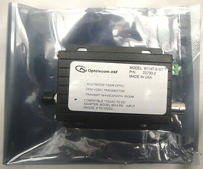 Optelecom -Multimode Fiber Optic PFM Video Transmitter- (9114T-S-ST)   (I4)