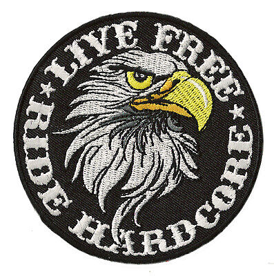 Patch écusson blason patche Motard Ride Hardcore Aigle thermocollant