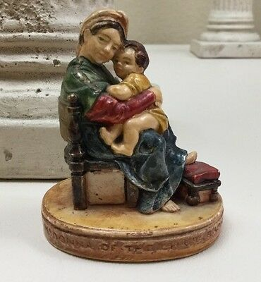 """Vintage 1951 Miniature """"Madonna of the Chair"""" By P. W. Baston Mary & Child Jesus"""